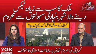 Jamaat-e-Islami's position on Karachi census | Quam ki Aawaz ( Part 1) | Voice of Nation